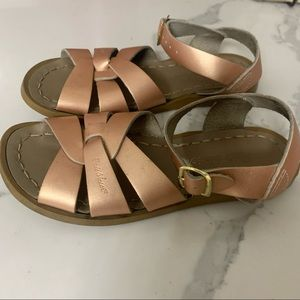 Beautiful Rose gold Saltwater sandals size 12